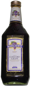 A bottle of manischewitz, concord grape